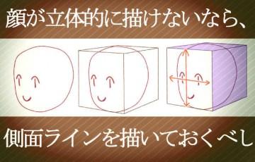 顔を立体的に描く